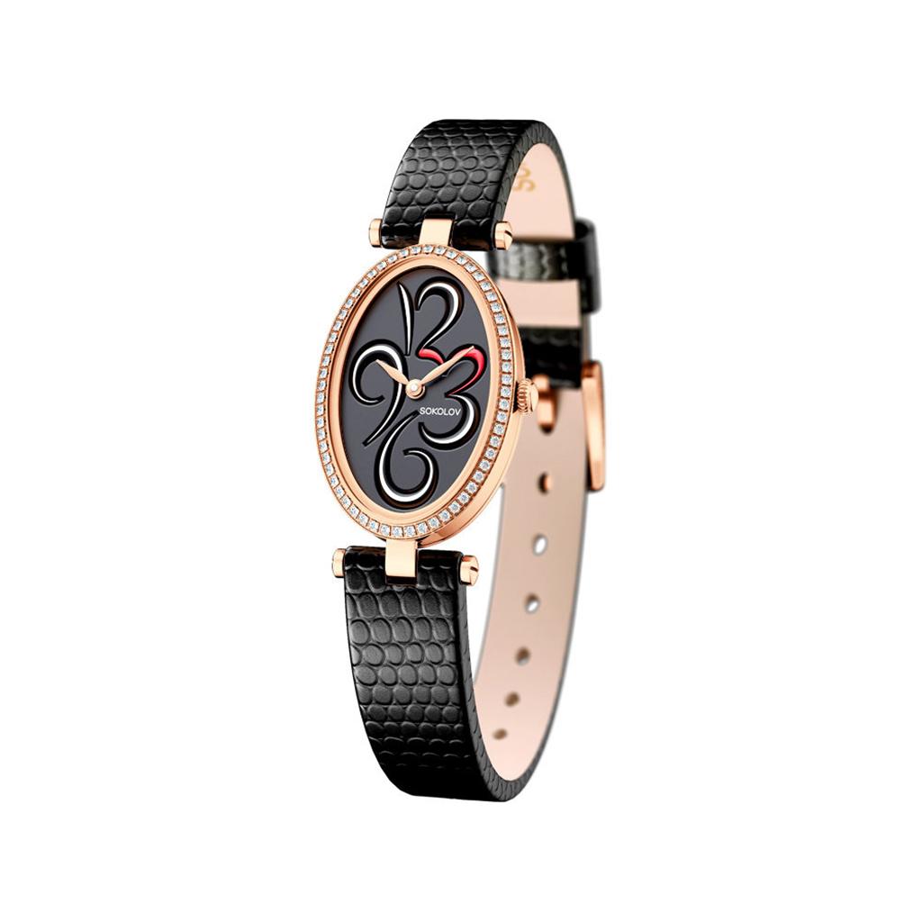 лучшая цена Часы женские из золота 236.01.00.001.04.01.2