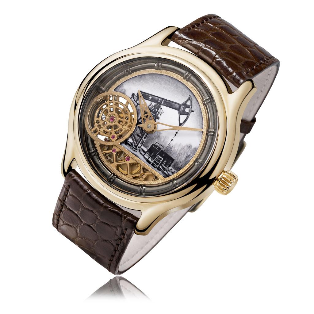 Часы мужские НИКА из золота 1102.0.3.45