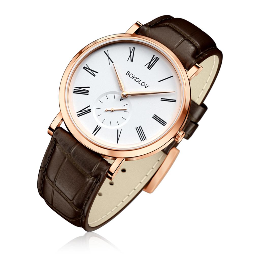Часы мужские SOKOLOV из золота 109.01.00.000.01.02.3