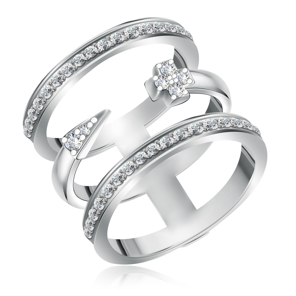 Кольцо из серебра 85611058