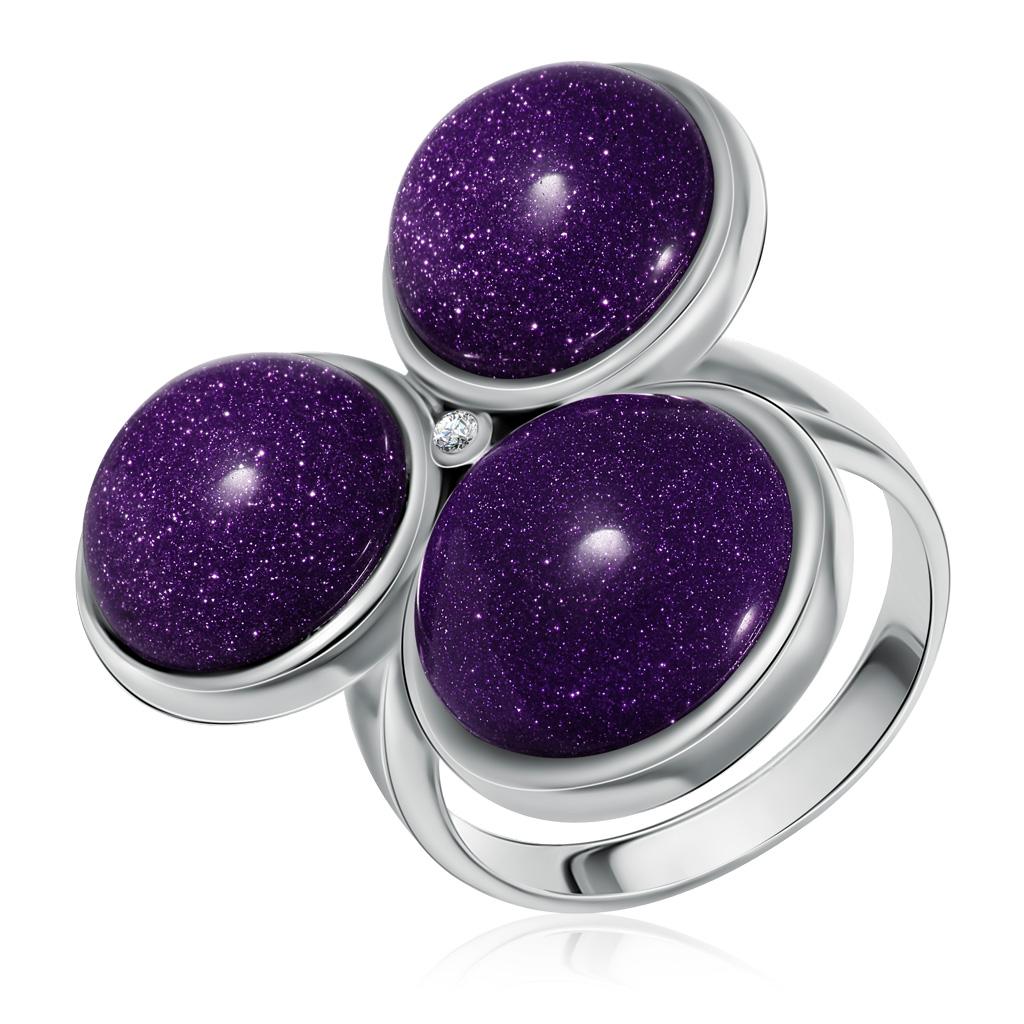 Кольцо из серебра 21SR0820c-97 кольцо капель авантюрин