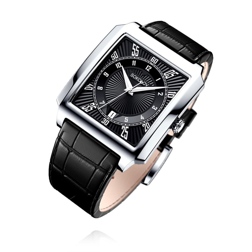 Часы мужские из серебра 134.30.00.000.09.01.3