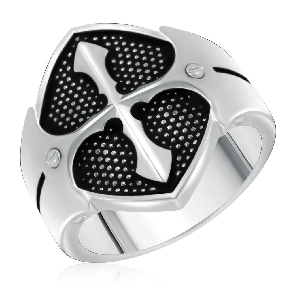 Купить со скидкой Кольцо мужское из серебра 01Т058391Э