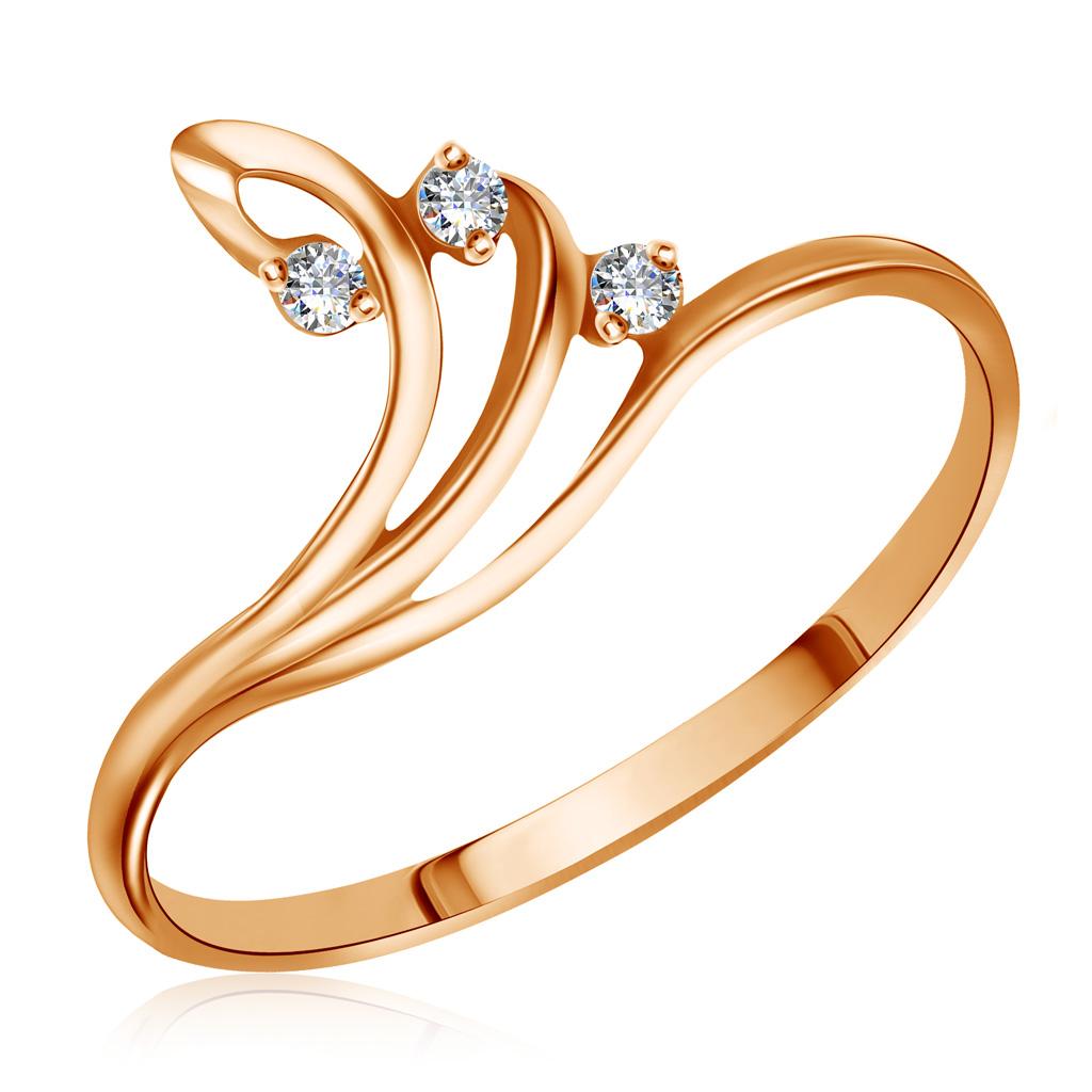 Кольцо из красного золота с бриллиантами RD0001870205