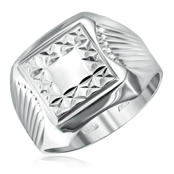 Печатка мужская из серебра без вставки 94011243