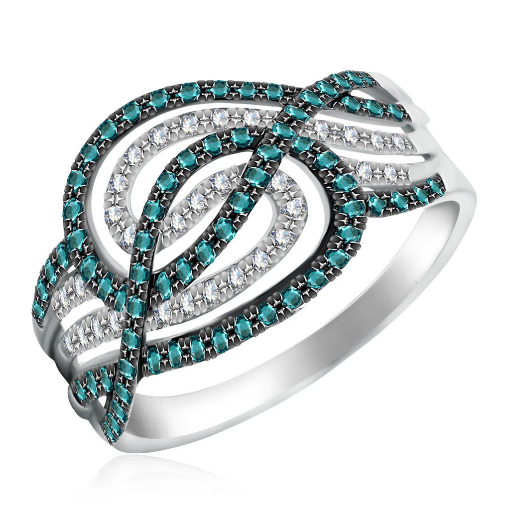 Купить Кольцо с бриллиантами из белого золота D0001086305