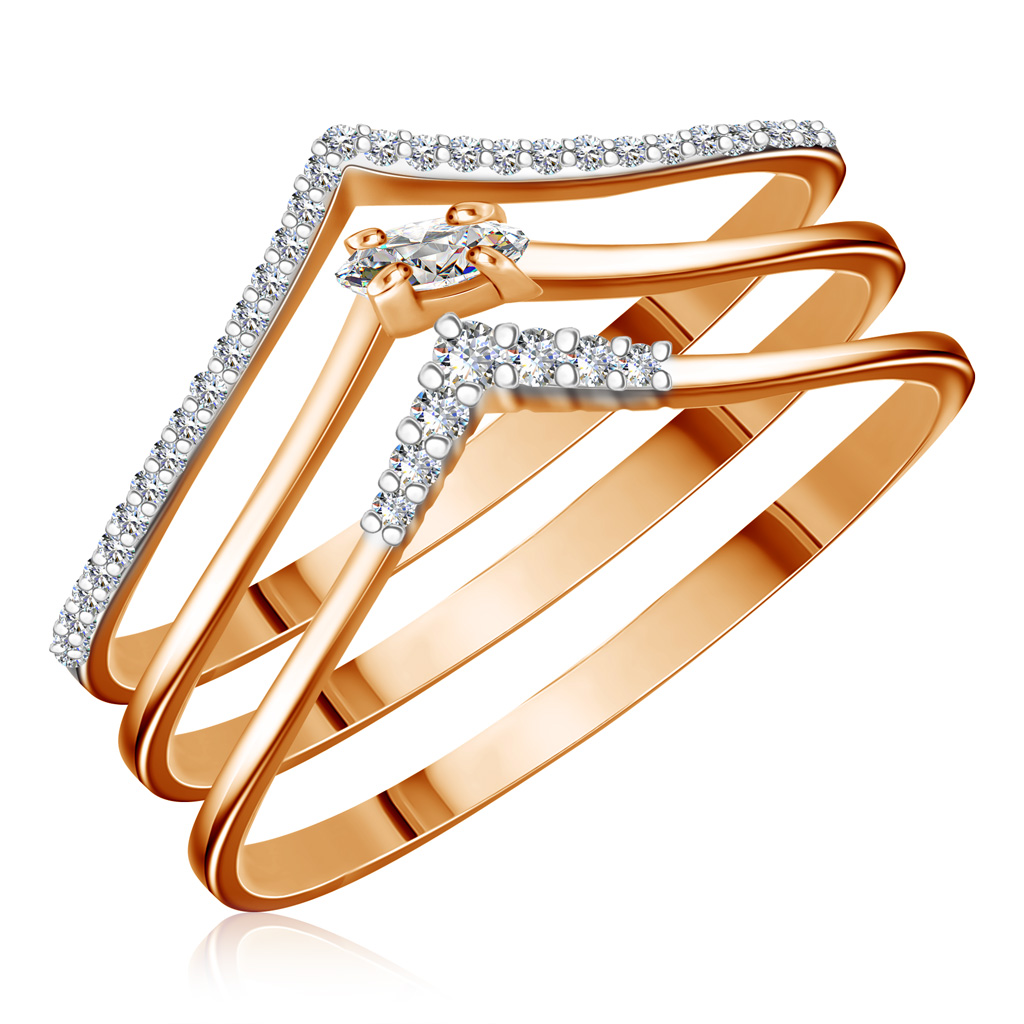 Купить со скидкой Кольцо из золота Ф7157-1-5766