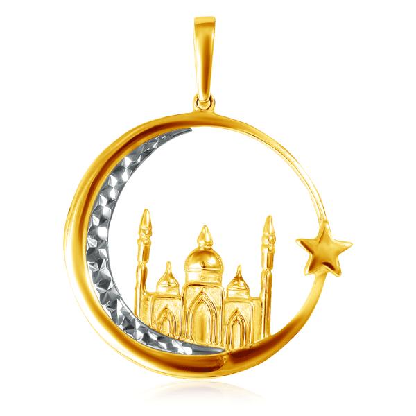 Купить со скидкой Подвеска мусульманская из золота 01П761177Ж