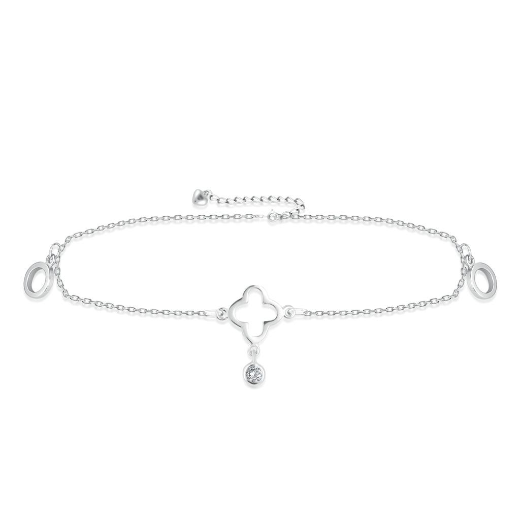 Браслет на ногу декоративный из серебра F3RC2964 кристал лодыжку цепи браслет браслет ногу сандал пляж женских украшений