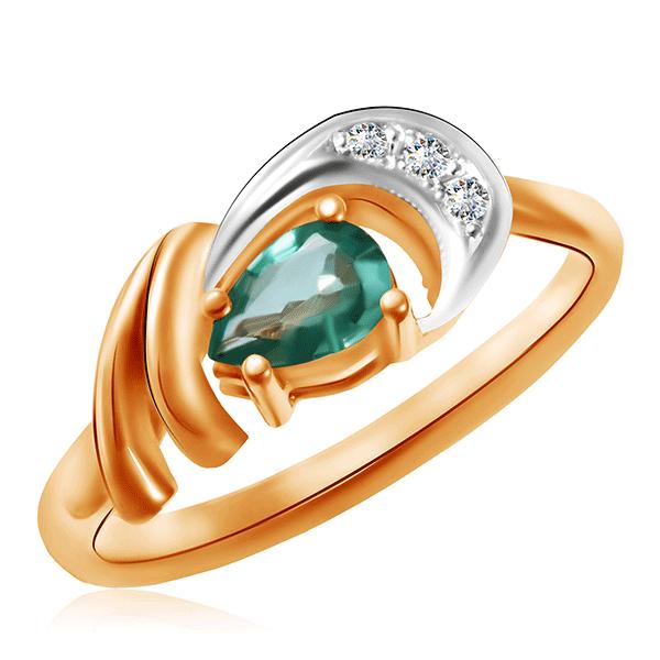 Кольцо из золота с изумрудом 148к
