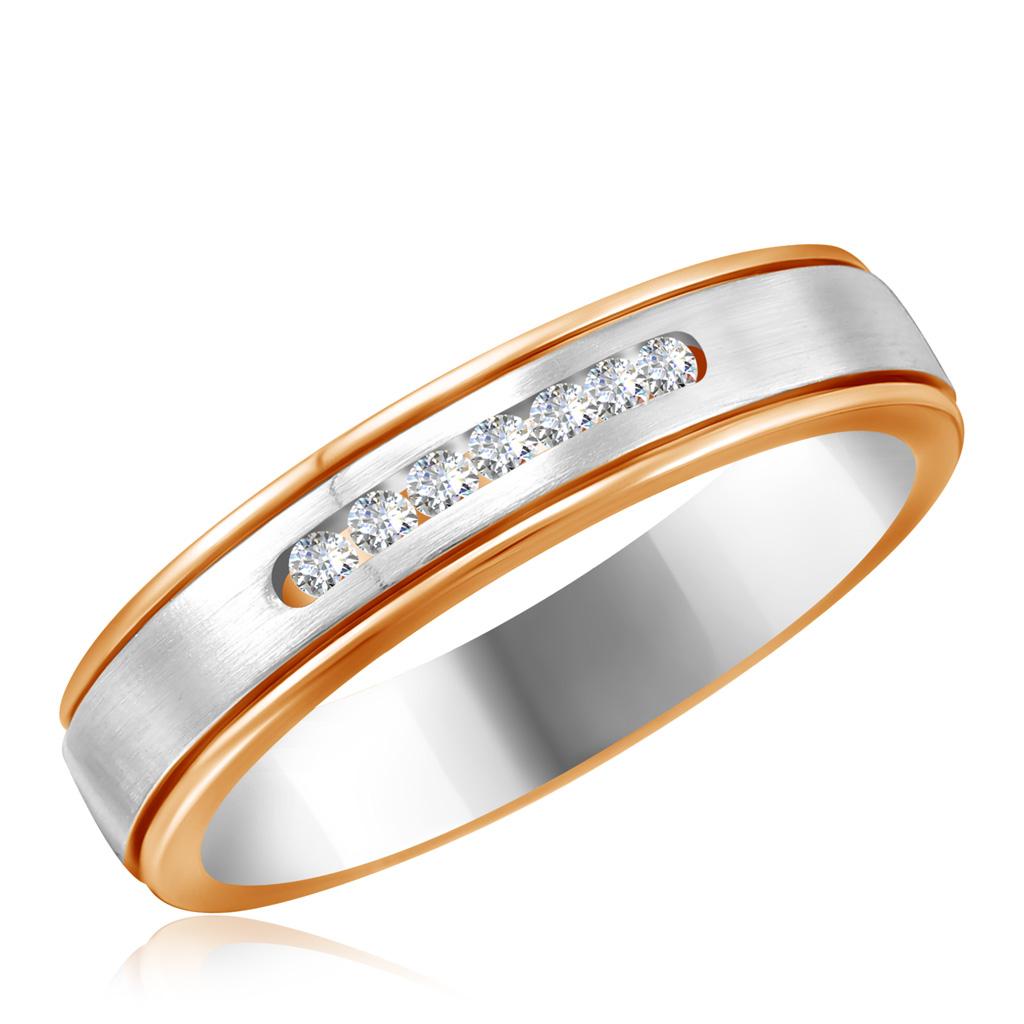 Купить со скидкой Обручальное кольцо из красного золота с бриллиантами 1011500373