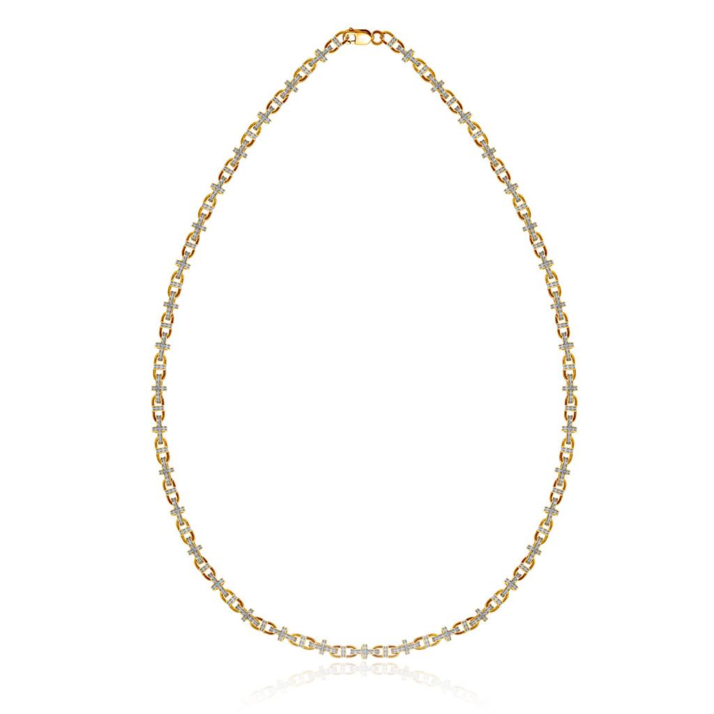 Цепь православная из серебра позолоченная 04.152 позолоченная цепочка