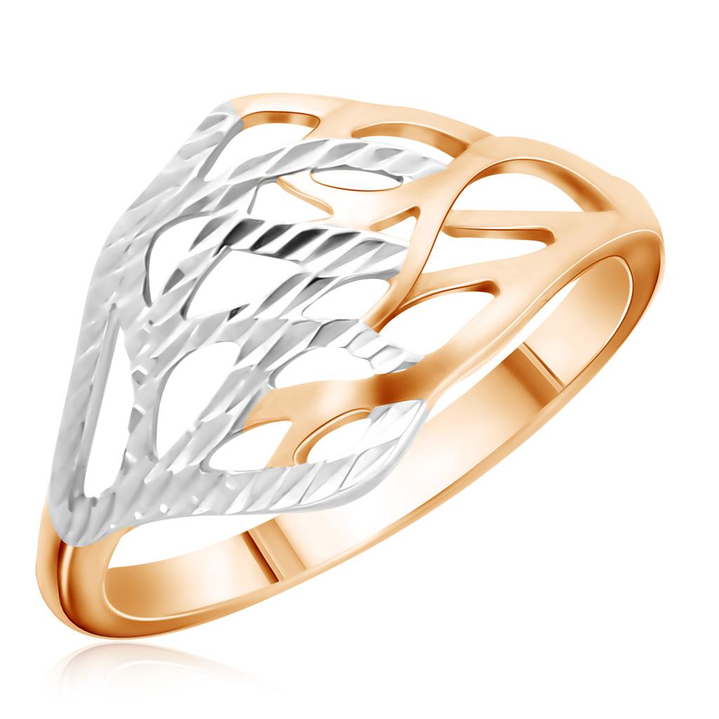 Кольцо из белого золота с жемчугом и фианитами 65612059