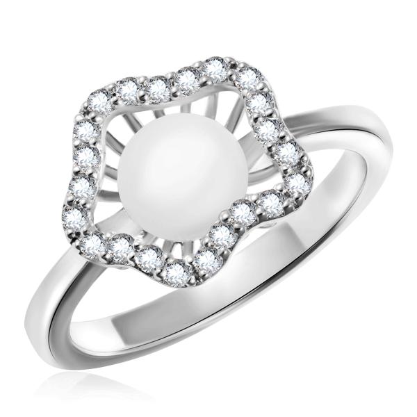 Кольцо из серебра с жемчугом W20160-R