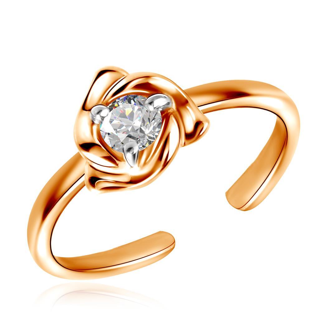 цены Кольцо для дочки из красного золота с фианитом Д0268-8-010001140