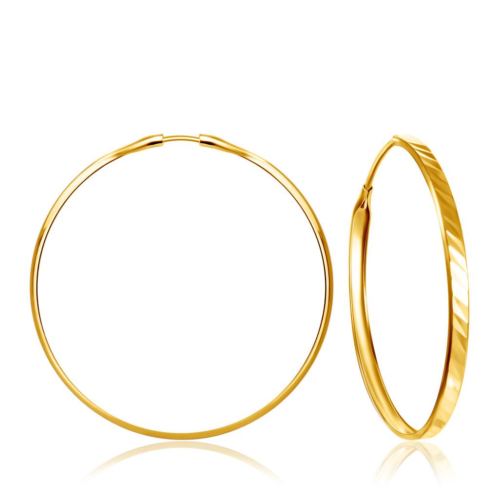Купить со скидкой Золотые серьги-кольца Конго 56020461000