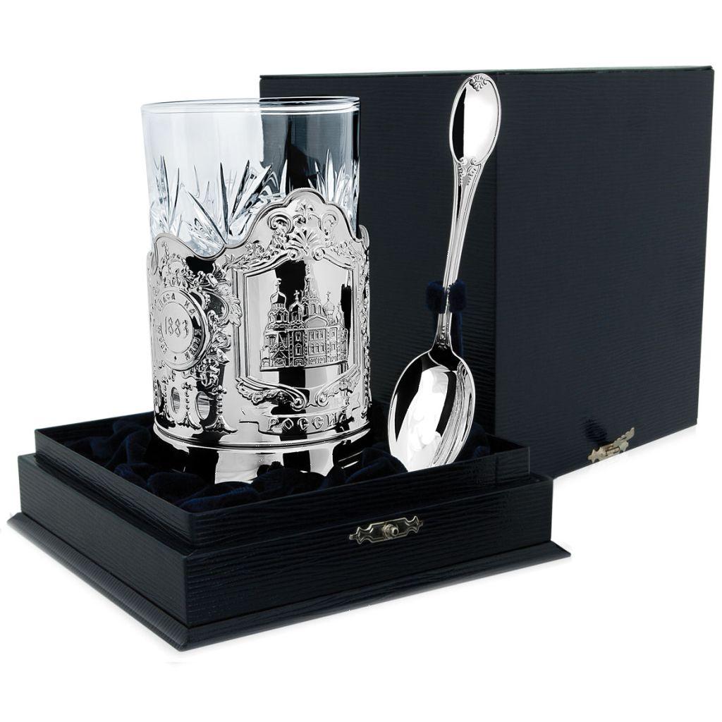 Чайный набор из серебра 768НБ03801