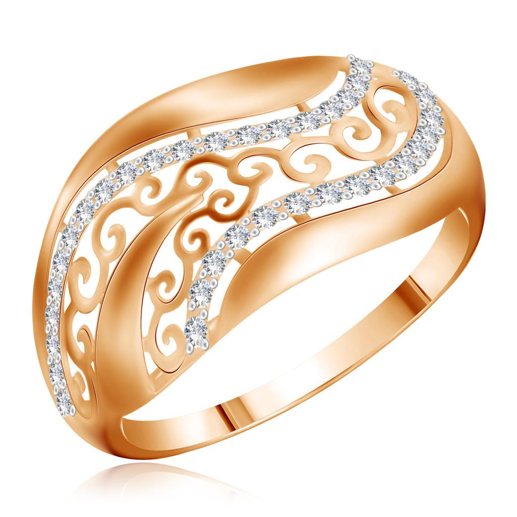 Кольцо из золота 25611477Кольца из красного золота<br>Артикул: 25611477 Металл: Золото Au 585 Вставка: Фианит<br><br>Артикул: 25611477<br>Металл, проба: Золото<br>Цвет металла: Красный<br>Вставка: Фианит