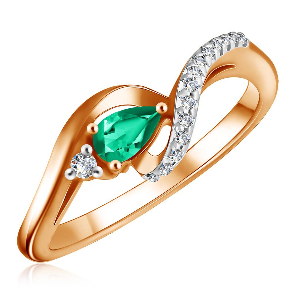 Кольцо из золота с изумрудом К10861и