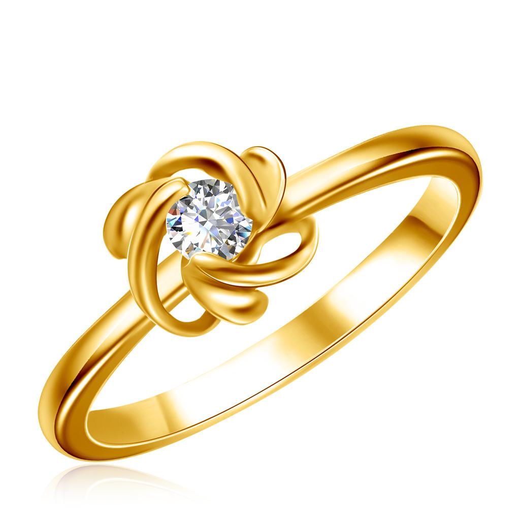 Кольцо из золота с бриллиантом 227381ж