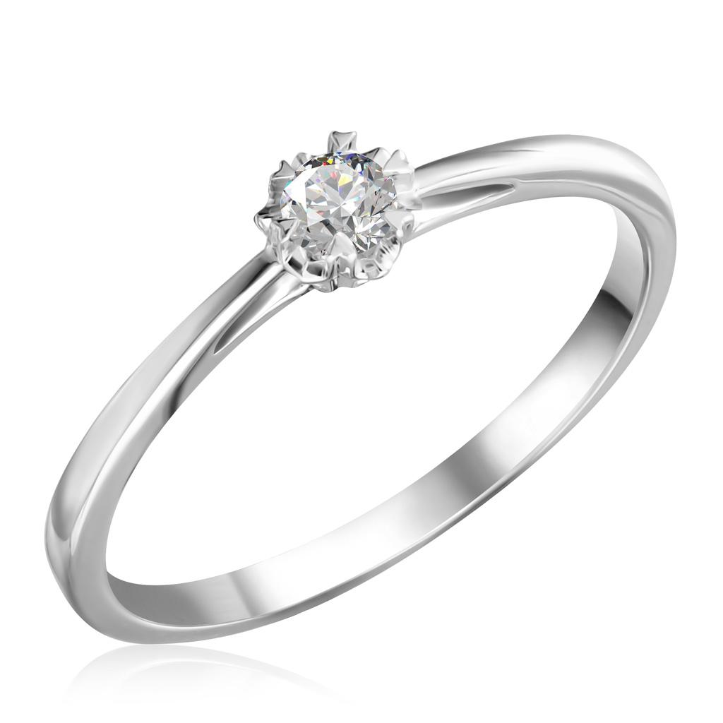Кольцо помолвочное из золота R 63221