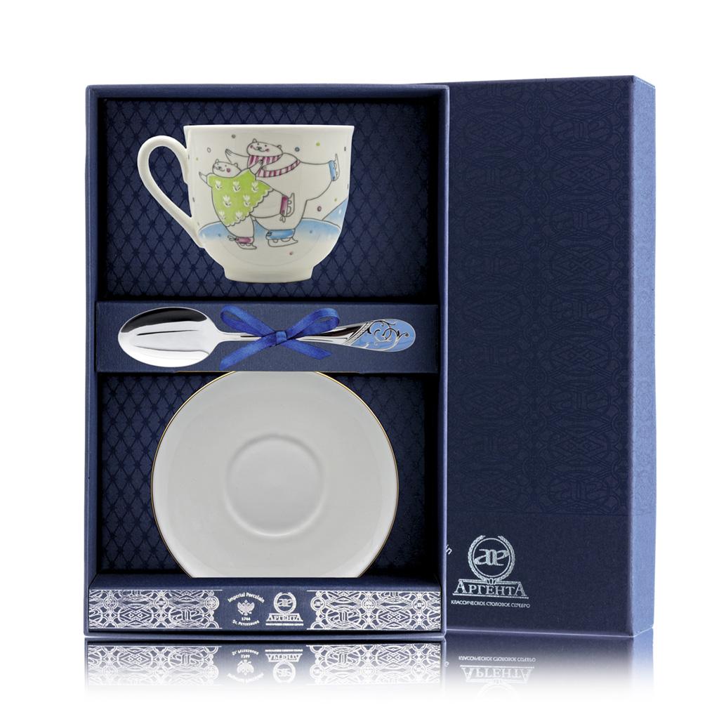 Набор чайный из серебра 076Ф03 кий для пула cuetec 1 рс черный 21 076 57 5