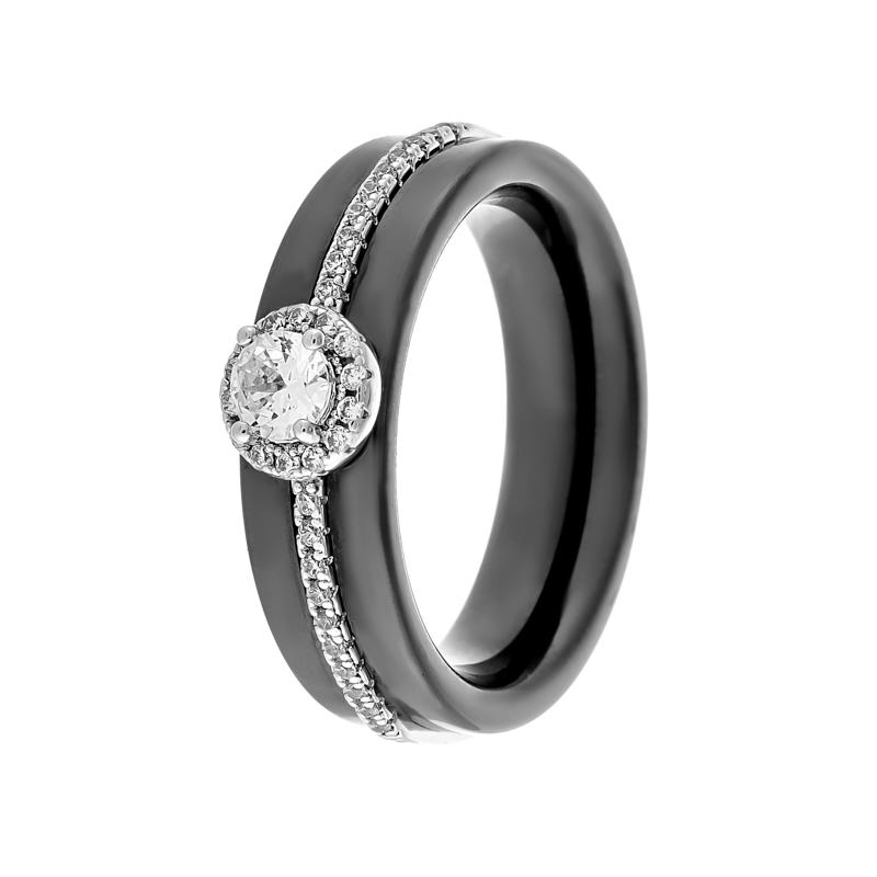Кольцо из серебра TC-R01166-B-W-W-X-W