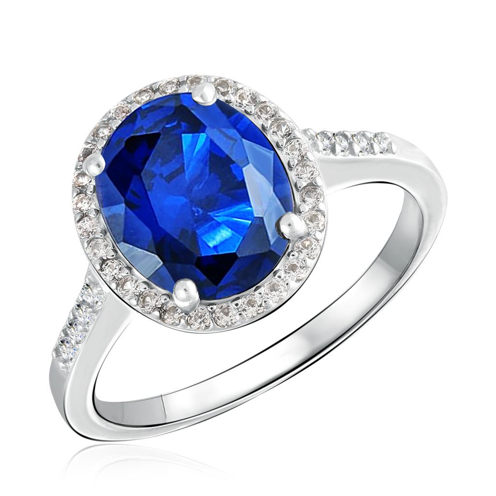 Кольцо из серебра с корундом и топазами R-DRGR00491-SP-T серебряное кольцо с корундом r drgr00620 sp