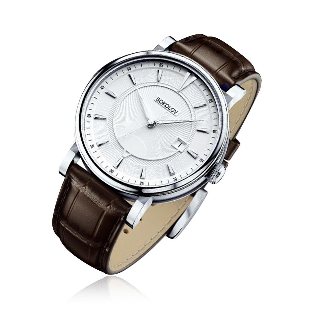 Часы мужские SOKOLOV из серебра 101.30.00.000.06.02.3