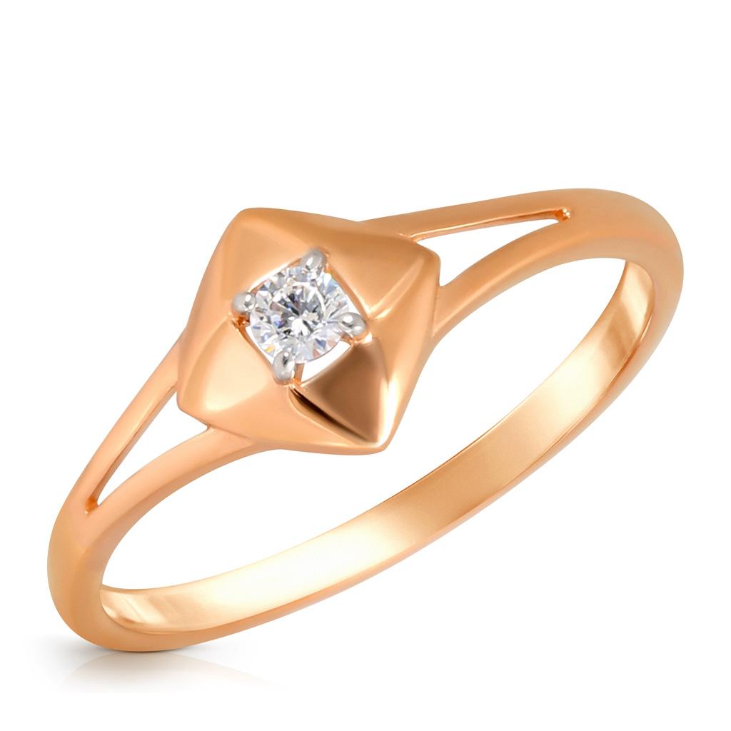 Кольцо из золота 585 пробы с фианитом Д0268-016994