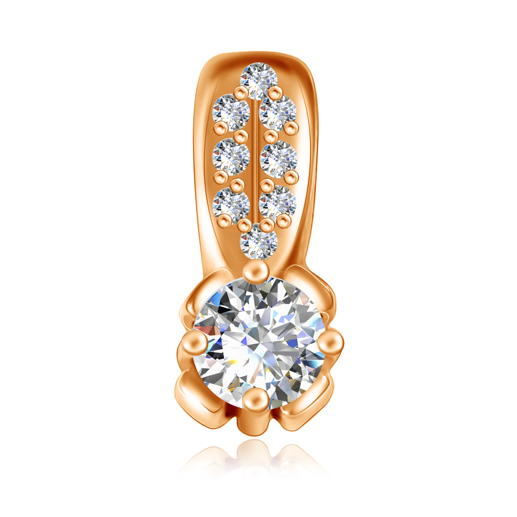 Купить Подвеска из красного золота с бриллиантами 01П615183