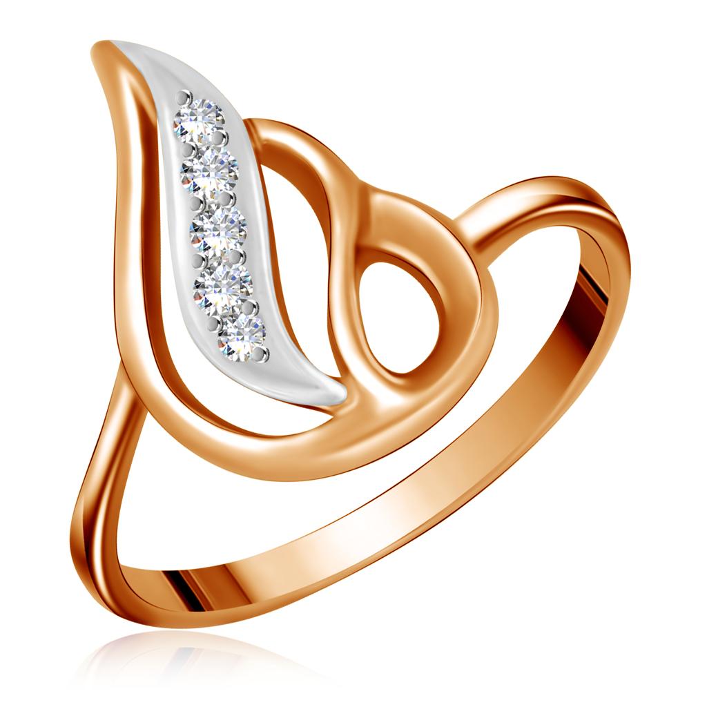Кольцо из золота 25011736Кольца из красного золота<br>Артикул: 25011736 Металл: Золото Au 585 Вставка: Фианит<br><br>Артикул: 25011736<br>Металл, проба: Золото<br>Цвет металла: Красный<br>Вставка: Фианит