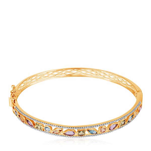Золотой браслет с аметистами 750136
