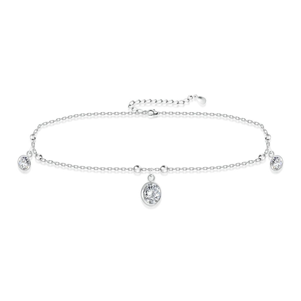Браслет на ногу декоративный из серебра F3QN2981 кристал лодыжку цепи браслет браслет ногу сандал пляж женских украшений