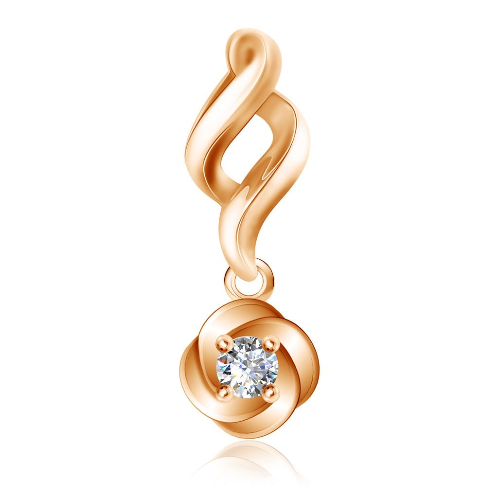 Купить Подвеска с бриллиантом золотая 1030156