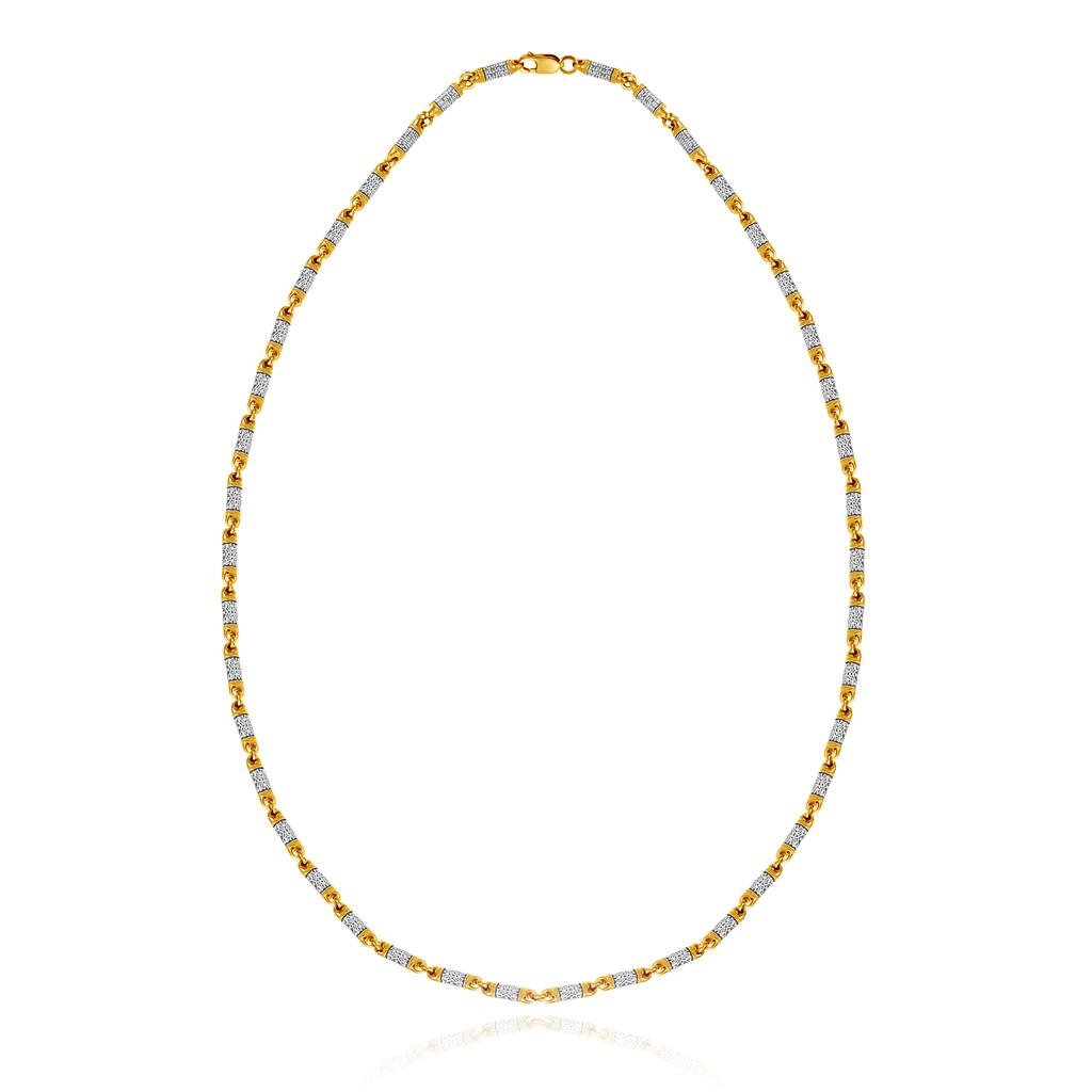 Цепь православная из серебра позолоченная 04.096 позолоченная цепочка
