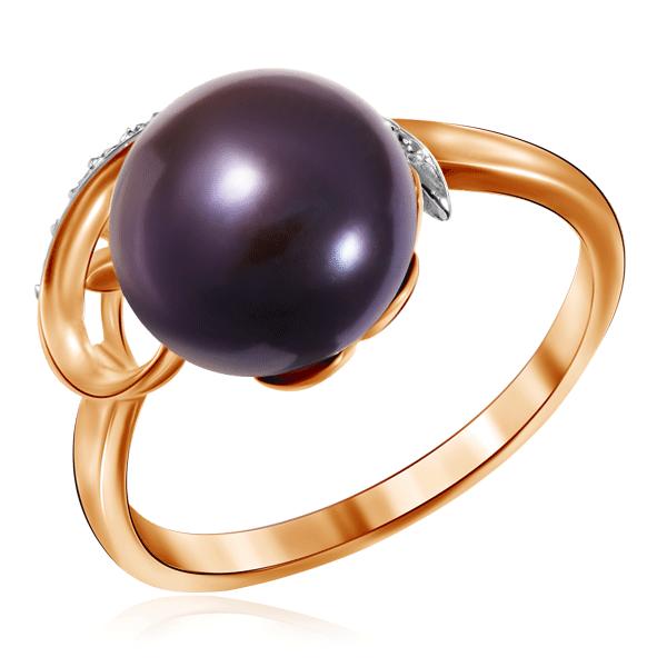 Купить со скидкой Кольцо из золота с жемчугом и бриллиантами 0181129