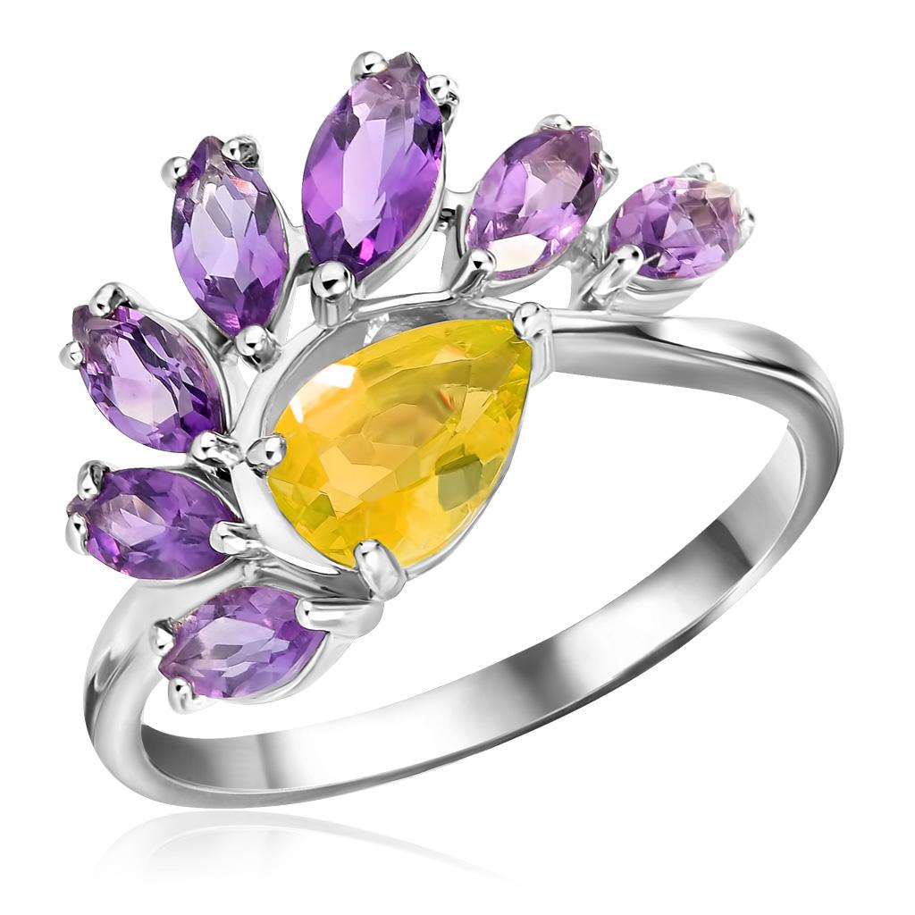 Кольцо из серебра К620-3446М45