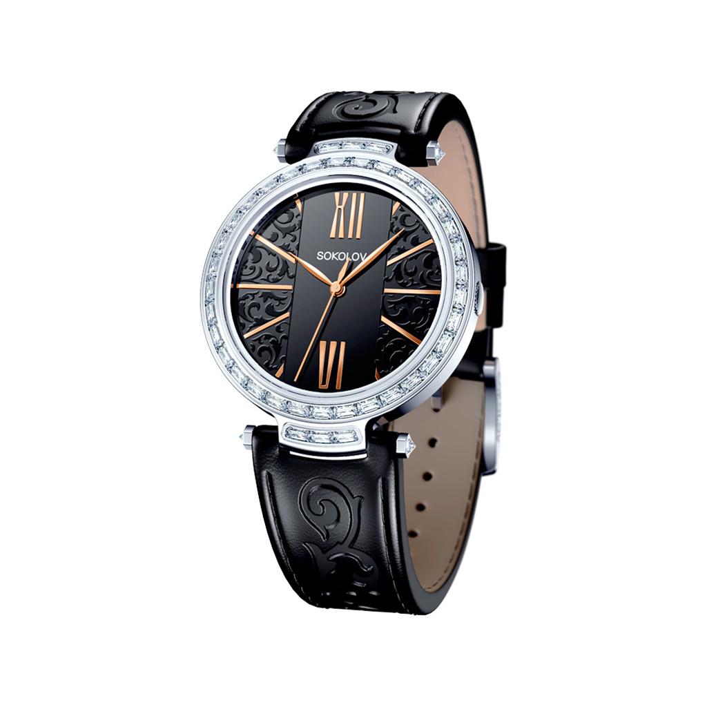 Часы женские из серебра 147.30.00.001.06.01.2