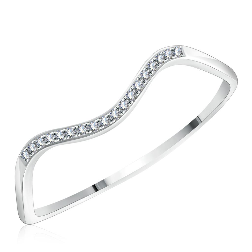 Кольцо из белого золота с бриллиантами со скидкой