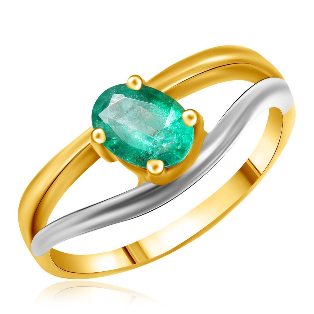 цена на Кольцо из желтого золота с изумрудом 54060