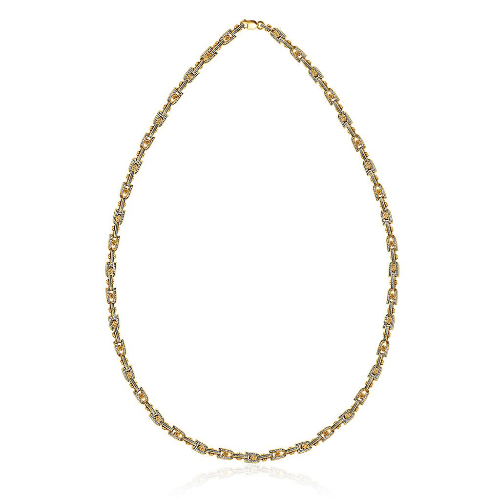 Цепь православная из серебра позолоченная 04.142 позолоченная цепочка