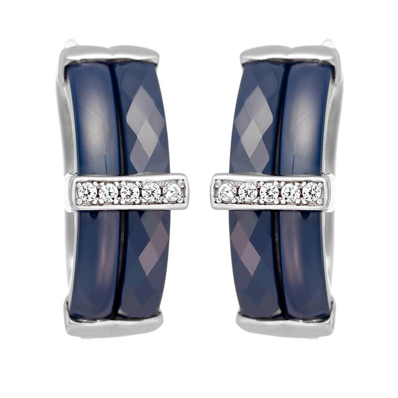 Серьги с английским замком из серебра TC-E00264-Вl-W-X-X-W подвеска из серебра tc p00097 вl w x x w