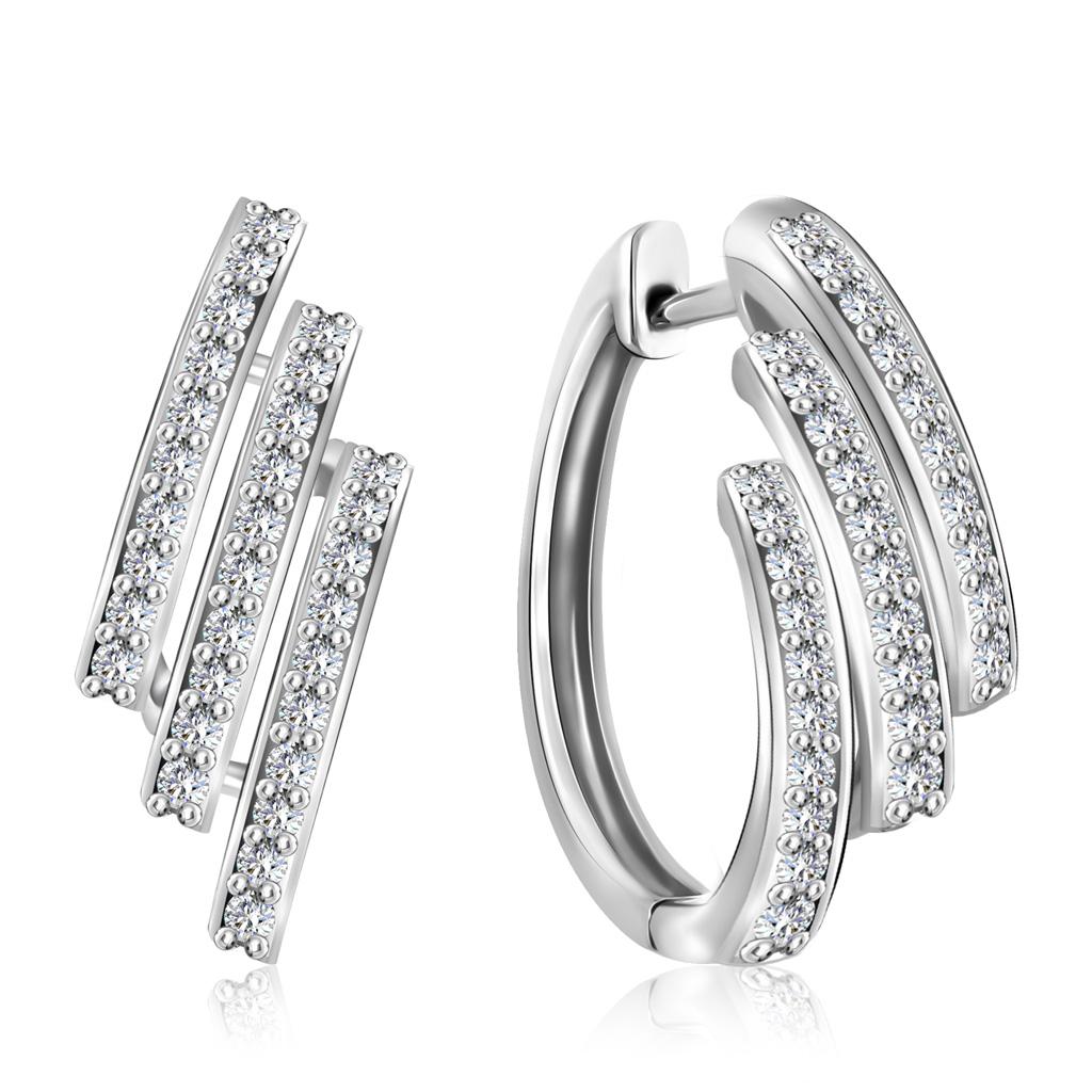 Купить Серьги-кольца Конго из золота с бриллиантами MR6563Еб