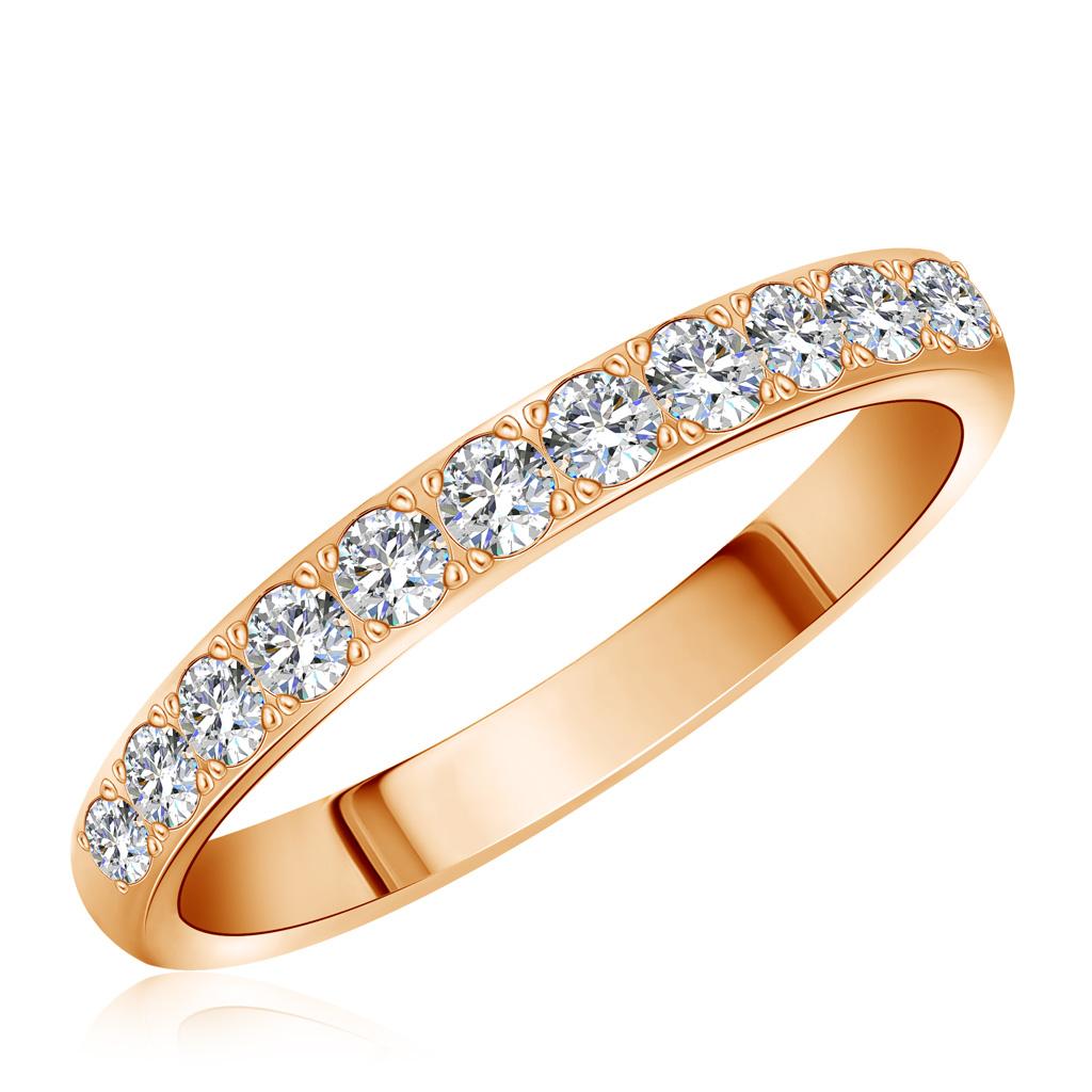 Кольцо из золота 4M03620Кольца из красного золота<br>Артикул: 4M03620 Металл: Золото Au 585 Вставка: Бриллиант<br><br>Артикул: 4M03620<br>Металл, проба: Золото<br>Цвет металла: Красный<br>Вставка: Бриллиант