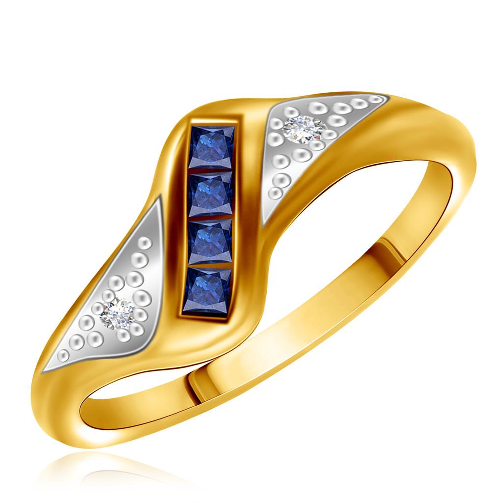 Кольцо из золота с сапфирами HNR49