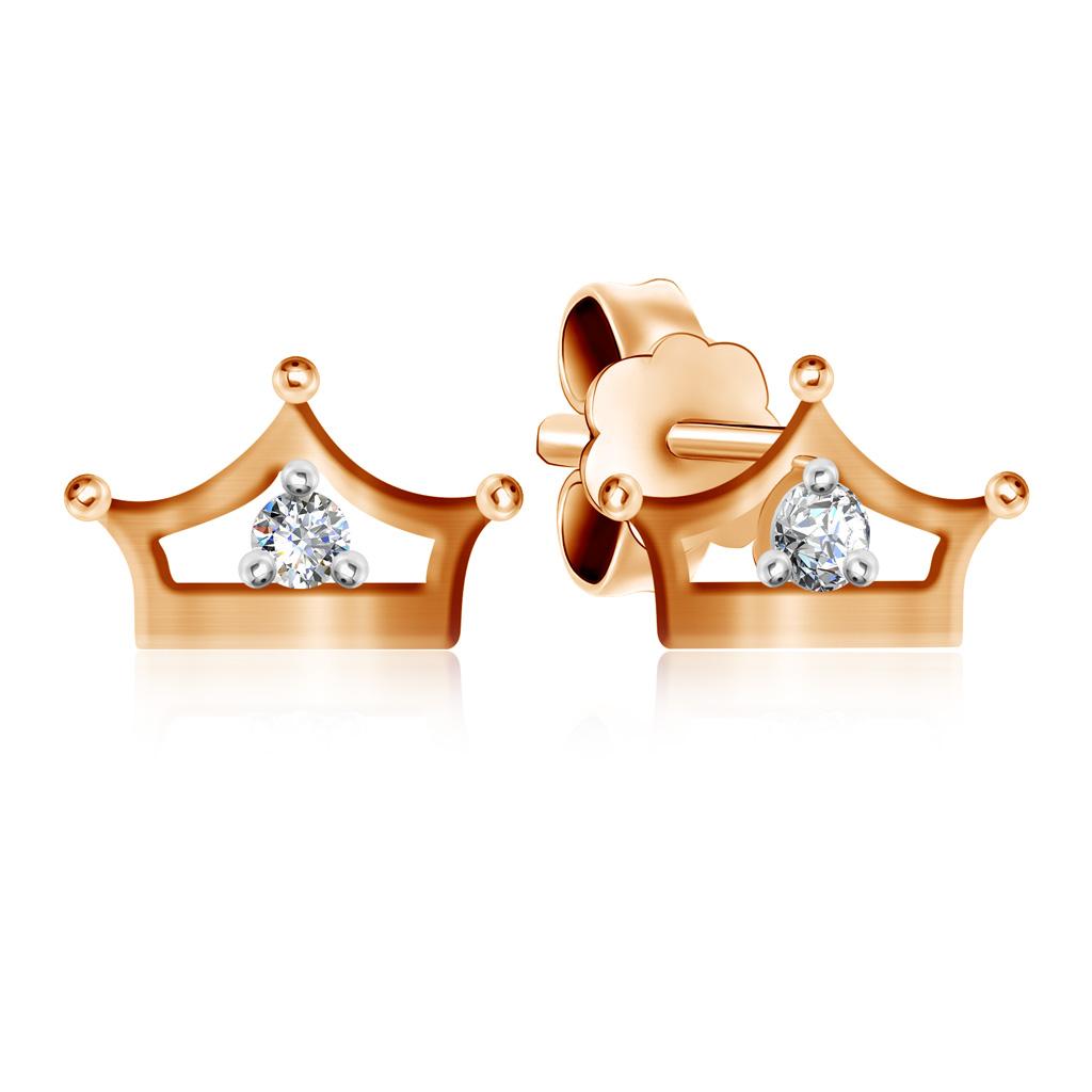 Серьги-пуссеты детские из золота Д0268-027134