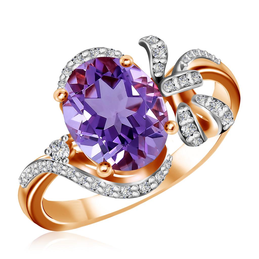 Кольцо с аметистом из золота 712709
