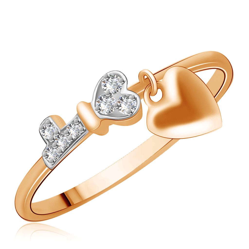 Кольцо из золота Д0268-016893Кольца из красного золота<br>Артикул: Д0268-016893 Металл: Золото Au 585 Вставка: Фианит<br><br>Артикул: Д0268-016893<br>Металл, проба: Золото<br>Цвет металла: Красный<br>Вставка: Фианит