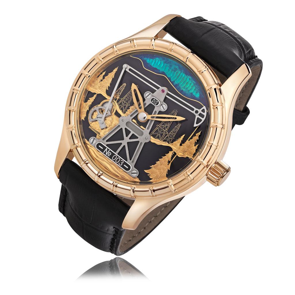 Часы мужские НИКА из золота 1165.0.1.01G